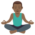 Man in Lotus Position: Medium-Dark Skin Tone on JoyPixels 5.0