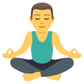 Man in Lotus Position on JoyPixels 5.0