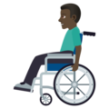 Man in Manual Wheelchair: Dark Skin Tone on JoyPixels 5.0