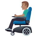 Man in Motorized Wheelchair: Medium Skin Tone on JoyPixels 5.0