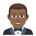 Man in Tuxedo: Medium-Dark Skin Tone on JoyPixels 5.0