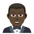 Man in Tuxedo: Dark Skin Tone on JoyPixels 5.0