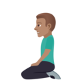 Man Kneeling: Medium Skin Tone on JoyPixels 5.0