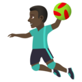 Man Playing Handball: Dark Skin Tone on JoyPixels 5.0
