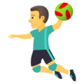 Man Playing Handball on JoyPixels 5.0