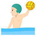 Man Playing Water Polo: Light Skin Tone on JoyPixels 5.0