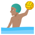 Man Playing Water Polo: Medium Skin Tone on JoyPixels 5.0