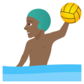 Man Playing Water Polo: Medium-Dark Skin Tone on JoyPixels 5.0