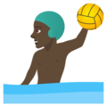 Man Playing Water Polo: Dark Skin Tone on JoyPixels 5.0