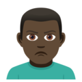 Man Pouting: Dark Skin Tone on JoyPixels 5.0