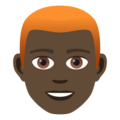 Man: Dark Skin Tone, Red Hair on JoyPixels 5.0
