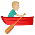 Man Rowing Boat: Medium-Light Skin Tone on JoyPixels 5.0