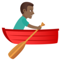 Man Rowing Boat: Medium-Dark Skin Tone on JoyPixels 5.0
