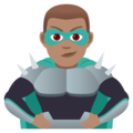 Man Supervillain: Medium Skin Tone on JoyPixels 5.0