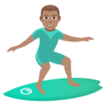 Man Surfing: Medium Skin Tone on JoyPixels 5.0