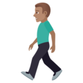 Man Walking: Medium Skin Tone on JoyPixels 5.0