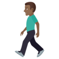 Man Walking: Medium-Dark Skin Tone on JoyPixels 5.0