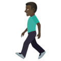 Man Walking: Dark Skin Tone on JoyPixels 5.0