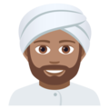 Man Wearing Turban: Medium Skin Tone on JoyPixels 5.0
