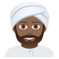 Man Wearing Turban: Medium-Dark Skin Tone on JoyPixels 5.0
