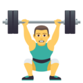 Man Lifting Weights on JoyPixels 5.0