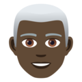 Man: Dark Skin Tone, White Hair on JoyPixels 5.0