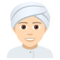 Person Wearing Turban: Light Skin Tone on JoyPixels 5.0