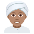 Person Wearing Turban: Medium Skin Tone on JoyPixels 5.0