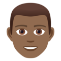 Man: Medium-Dark Skin Tone on JoyPixels 5.0