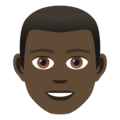 Man: Dark Skin Tone on JoyPixels 5.0