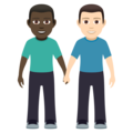Men Holding Hands: Dark Skin Tone, Light Skin Tone on JoyPixels 5.0