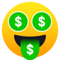 Money-Mouth Face on JoyPixels 5.0