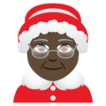 Mrs. Claus: Dark Skin Tone on JoyPixels 5.0