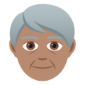 Older Person: Medium Skin Tone on JoyPixels 5.0