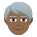 Older Person: Medium-Dark Skin Tone on JoyPixels 5.0