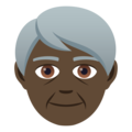 Older Person: Dark Skin Tone on JoyPixels 5.0
