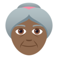 Old Woman: Medium-Dark Skin Tone on JoyPixels 5.0