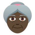 Old Woman: Dark Skin Tone on JoyPixels 5.0