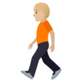 Person Walking: Medium-Light Skin Tone on JoyPixels 5.0