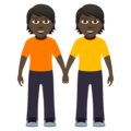 People Holding Hands: Dark Skin Tone on JoyPixels 5.0
