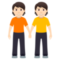 People Holding Hands: Light Skin Tone on JoyPixels 5.0
