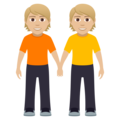 People Holding Hands: Medium-Light Skin Tone on JoyPixels 5.0