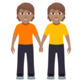 People Holding Hands: Medium Skin Tone on JoyPixels 5.0