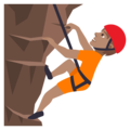 Person Climbing: Medium Skin Tone on JoyPixels 5.0
