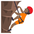 Person Climbing: Medium-Dark Skin Tone on JoyPixels 5.0