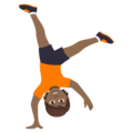 Person Cartwheeling: Medium-Dark Skin Tone on JoyPixels 5.0