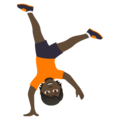 Person Cartwheeling: Dark Skin Tone on JoyPixels 5.0