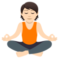 Person in Lotus Position: Light Skin Tone on JoyPixels 5.0
