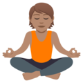 Person in Lotus Position: Medium Skin Tone on JoyPixels 5.0