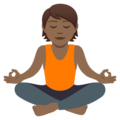 Person in Lotus Position: Medium-Dark Skin Tone on JoyPixels 5.0